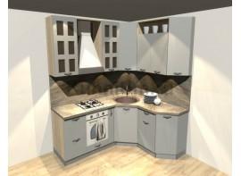 Кухонный гарнитур 1,6 х 1,9 (МДФ ПВХ матовый)